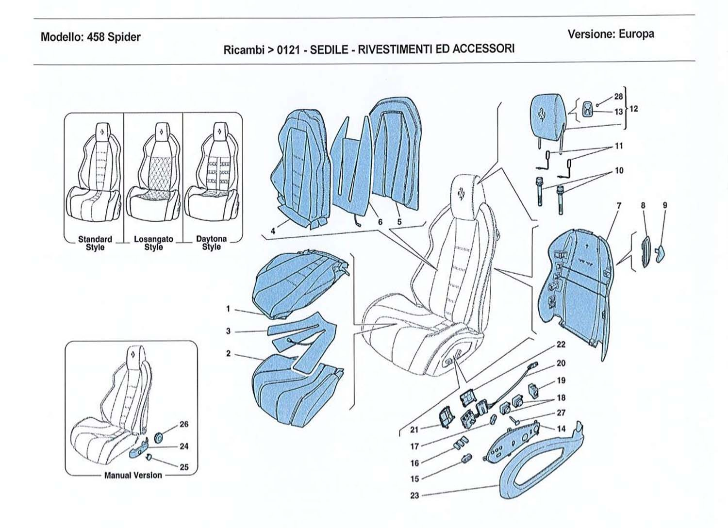 SEATS - UPHOLSTERY AND ACCESSORIES