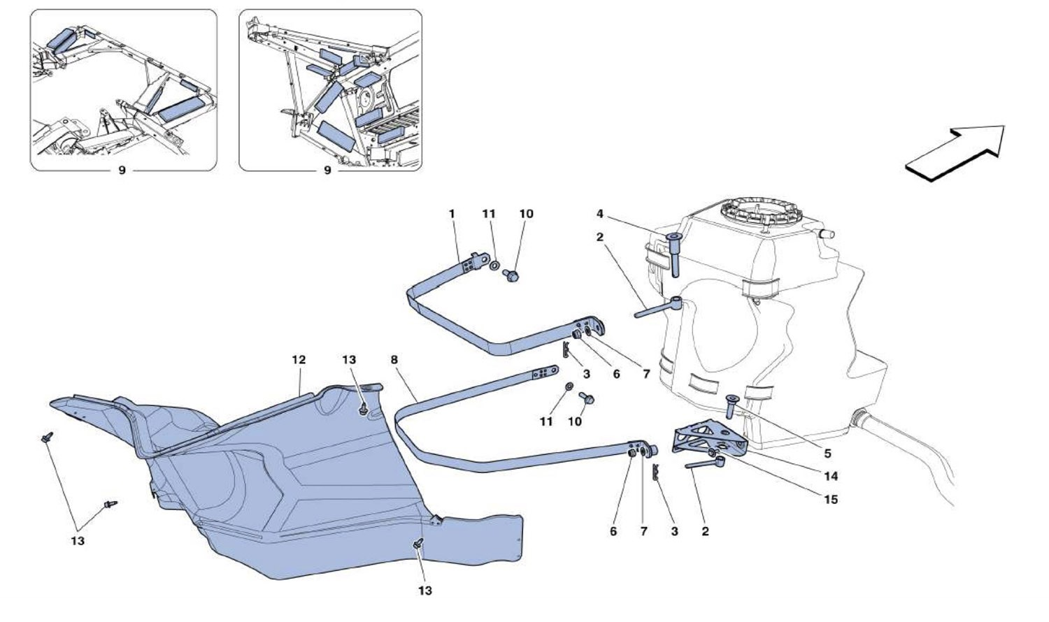 FUEL TANKS - FASTENERS AND GUARDS