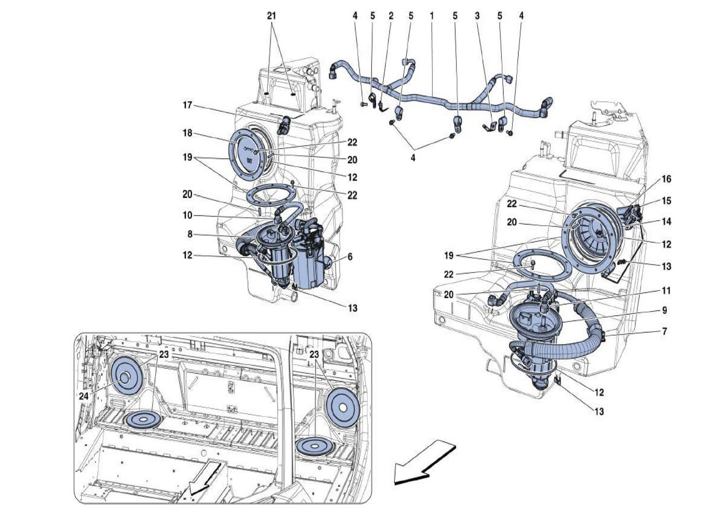FUEL SYSTEM PUMPS AND PIPES