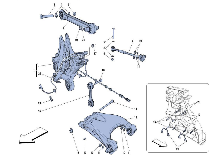 REAR SUSPENSION - ARMS