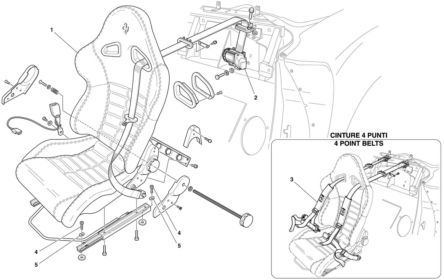SEAT AND SAFETY BELTS