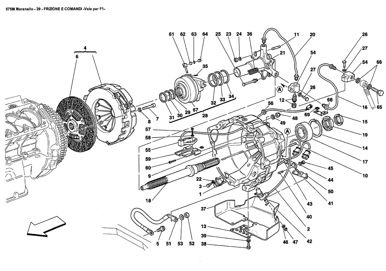 CLUTCH AND CONTROLS -Valid for F1-