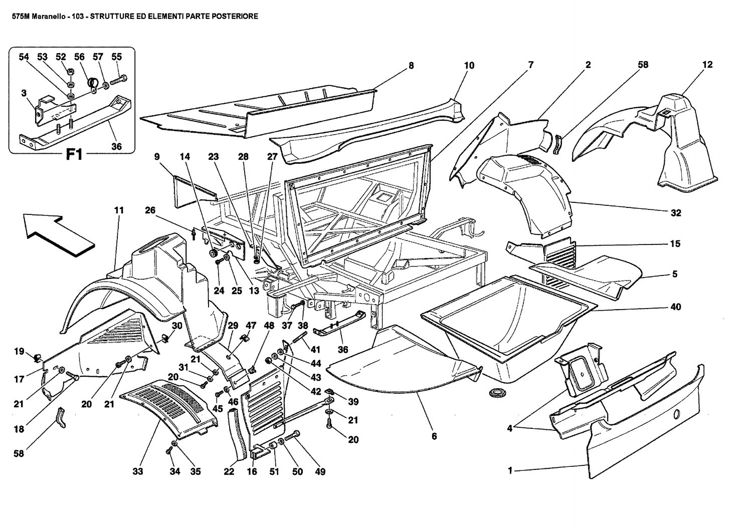 REAR STRUCTURES AND COMPONENTS