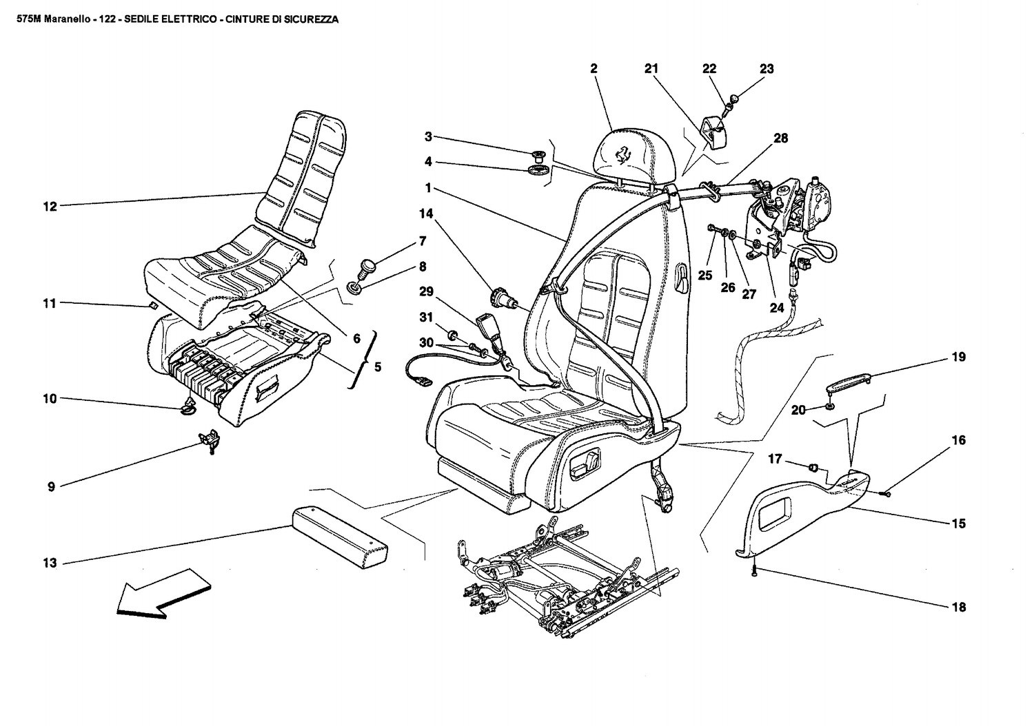 ELECTRICAL SEAT - SAFETY BELTS