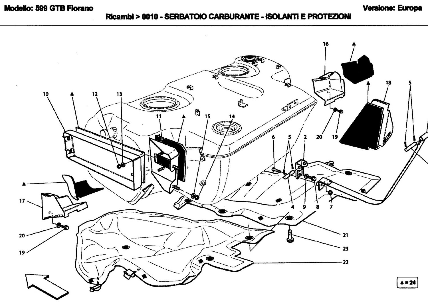 FUEL TANK - INSULATION AND PROTECTION