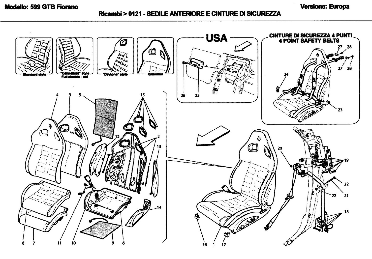 FRONT SEAT AND SEAT BELTS