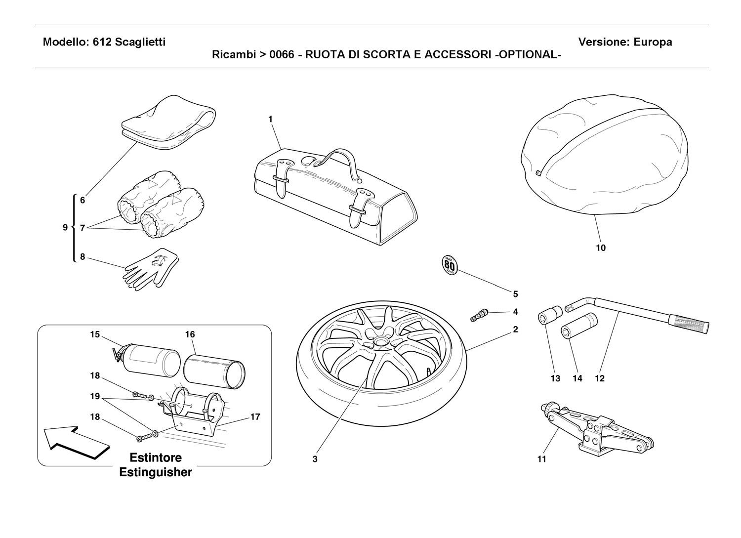 SPARE WHEEL AND ACCESSORIES -OPTIONAL-