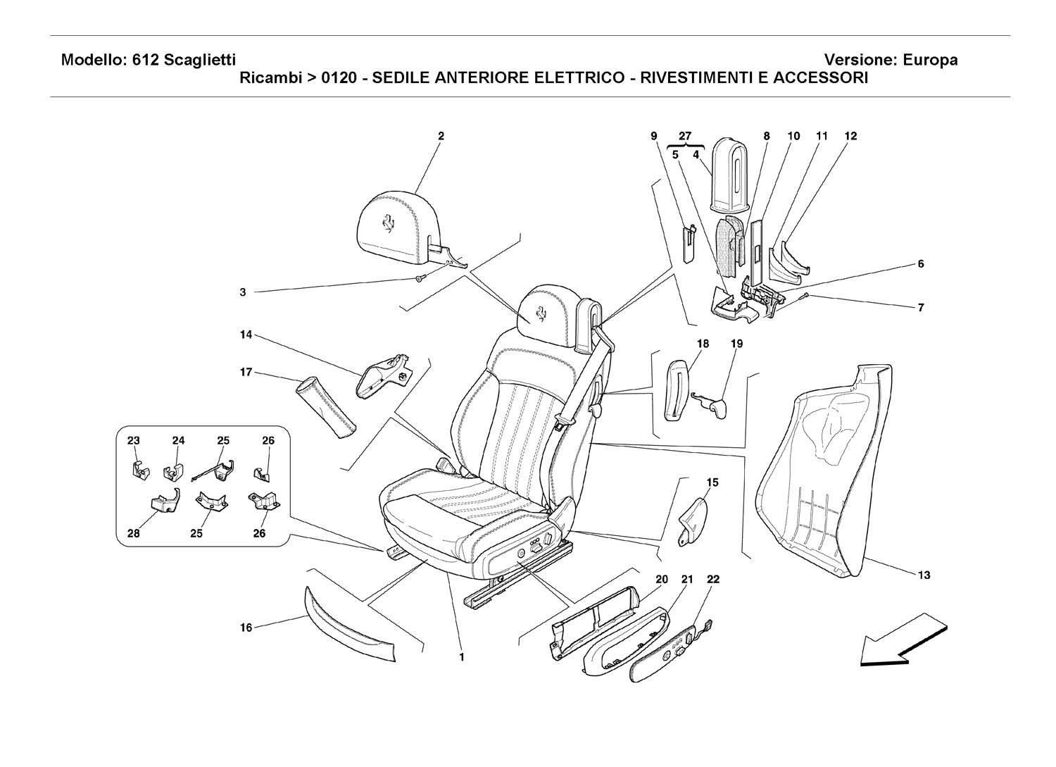 ELECTRICAL FRONT SEAT - COVERINGS AND ACCESSORIES
