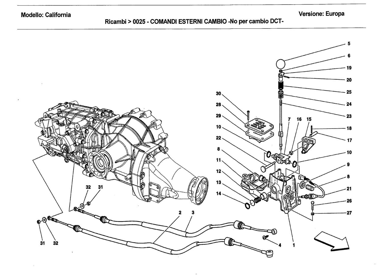 EXTERNAL GEARBOX CONTROLS -Not for DCT gearbox-