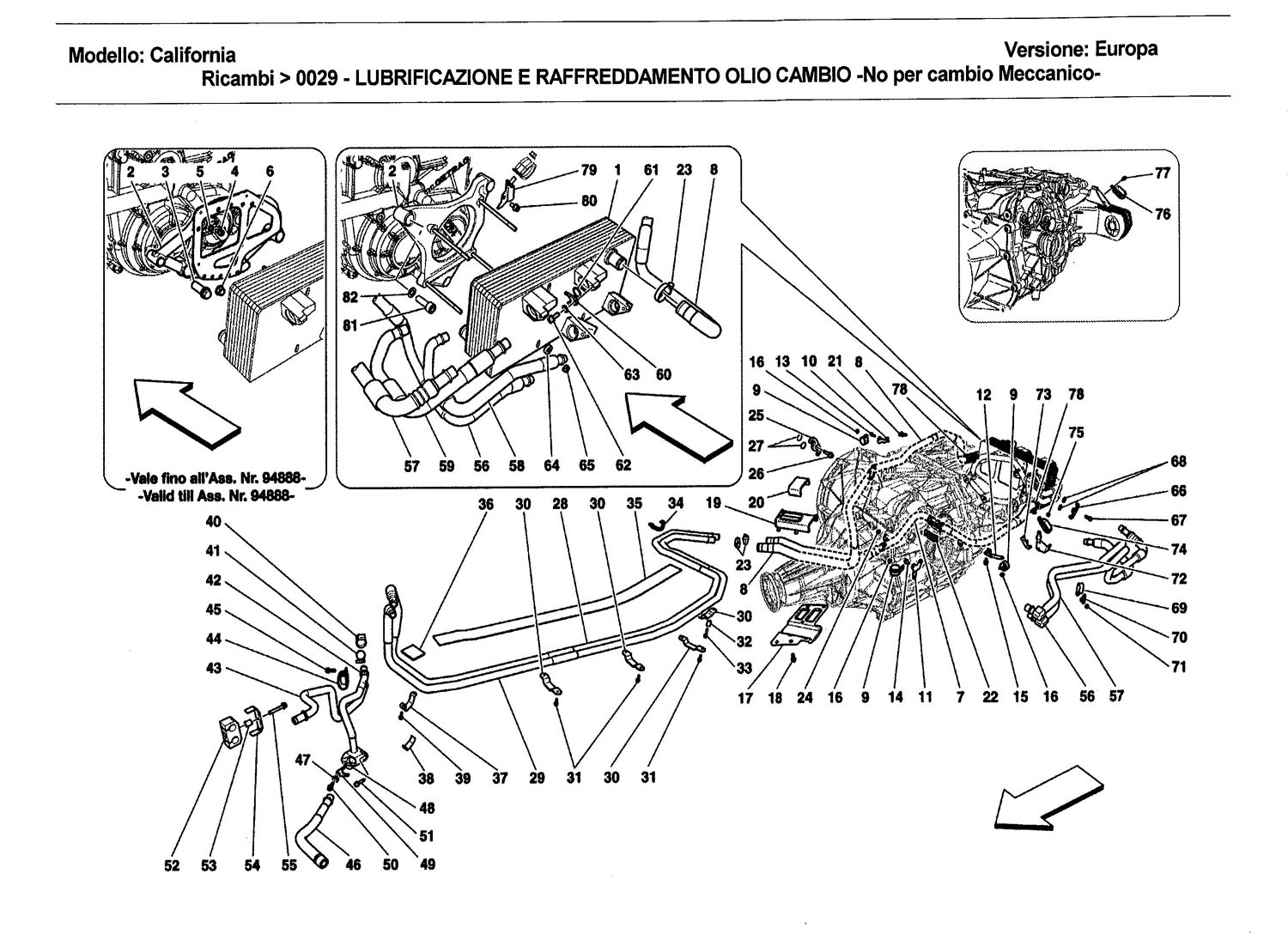GEARBOX LUBRICATION AND COOLING CIRCUIT -Not for mechanical gearbox-