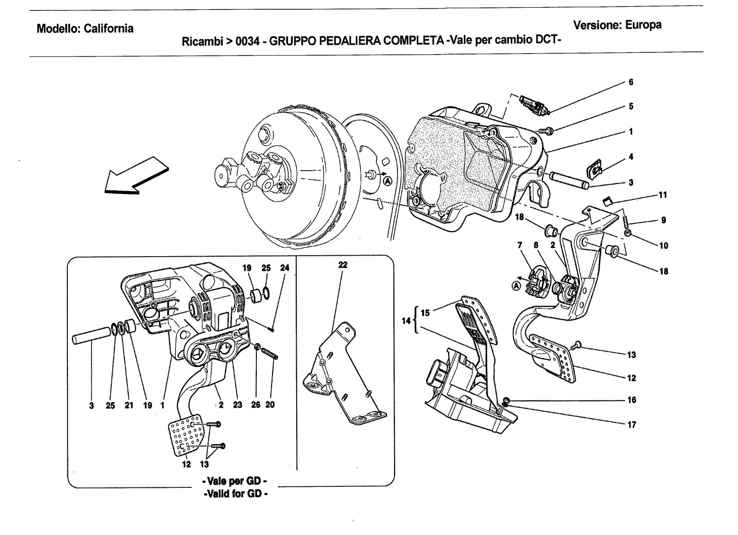 COMPLETE PEDAL BOARD ASSEMBLY -Applicable for DCT gearbox-