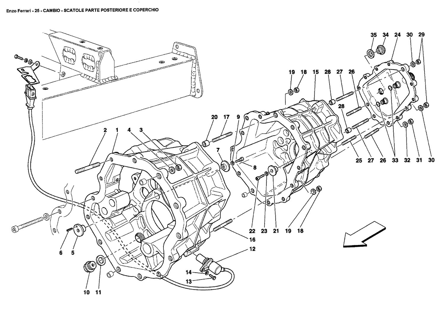 GEARBOX - REAR PART GEARBOXES HOUSING AND COVER