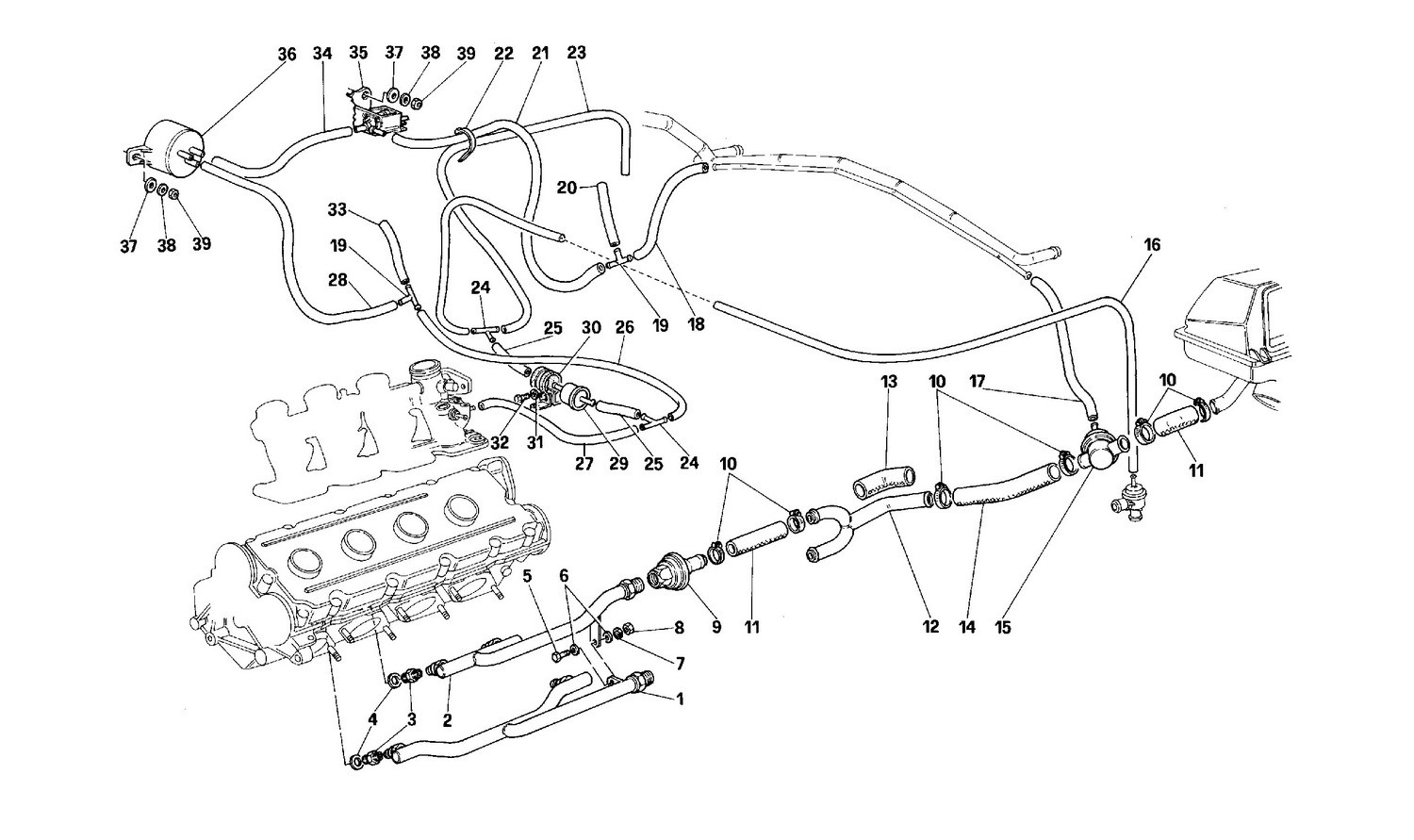 Air injection device -Valid for cars with catalyst - Not for USA--