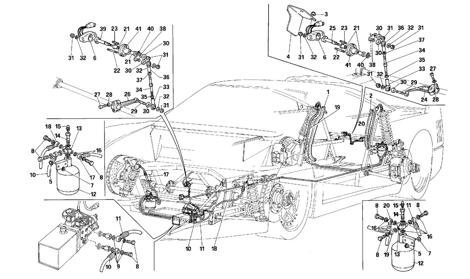 Lifting systems (for equipped cars)