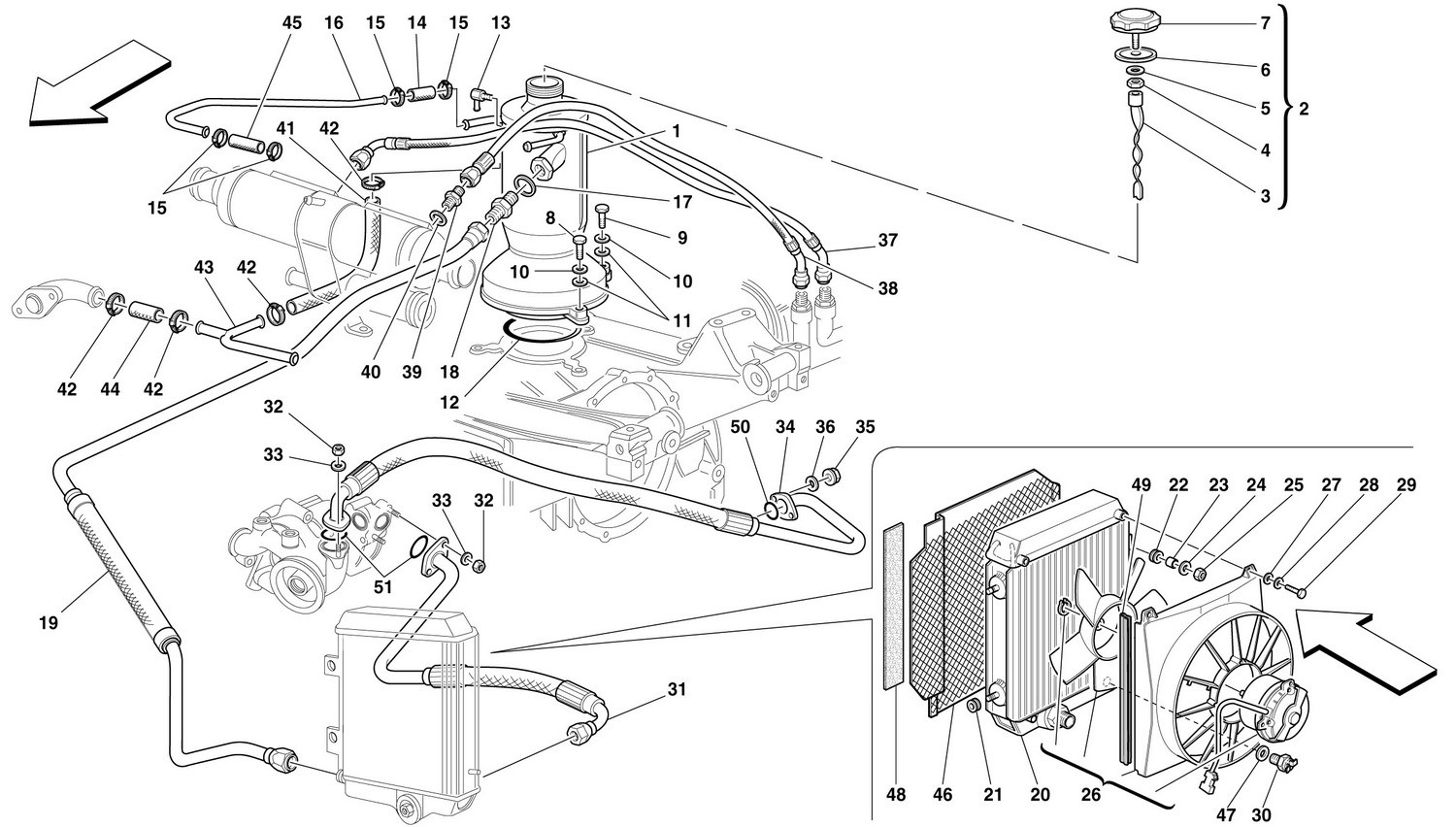 LUBRICATION SYSTEM - RADIATOR, BLOW-BY SYSTEM AND PIPES