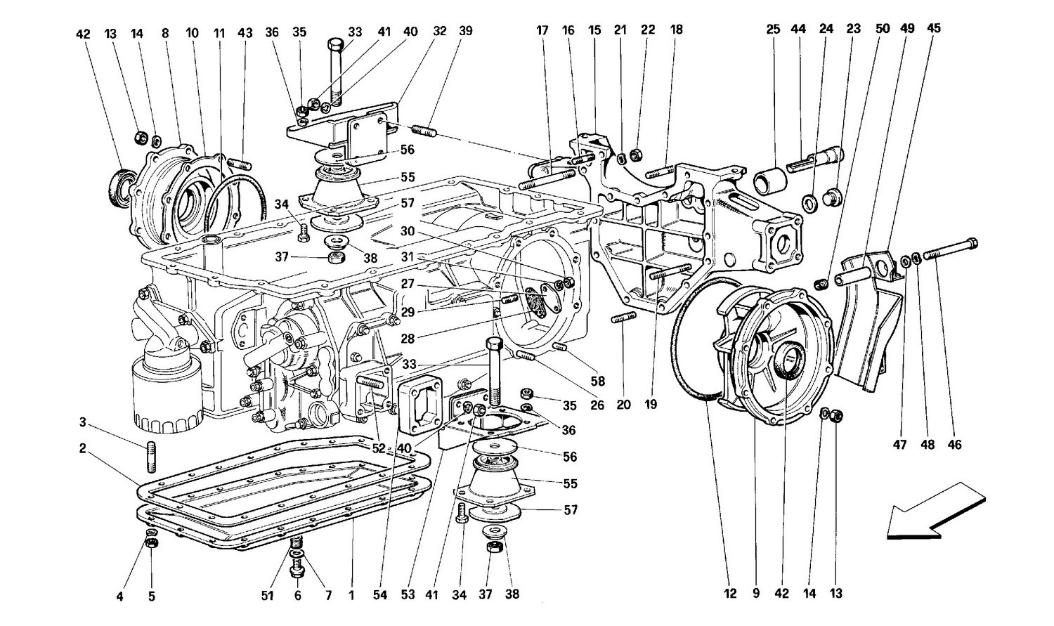 Gearbox - Mounting and covers