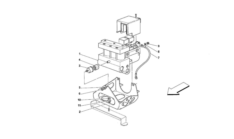 ABS hydraulic control unit
