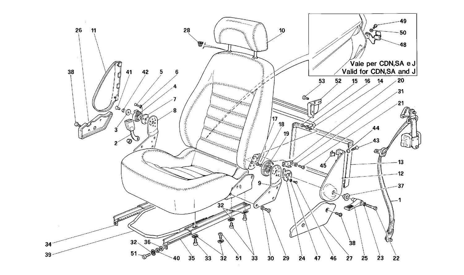 Seats and safety belts -Not for USA-