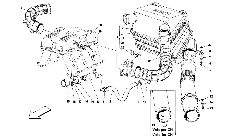 Air intake -MOTRONIC 2.7-