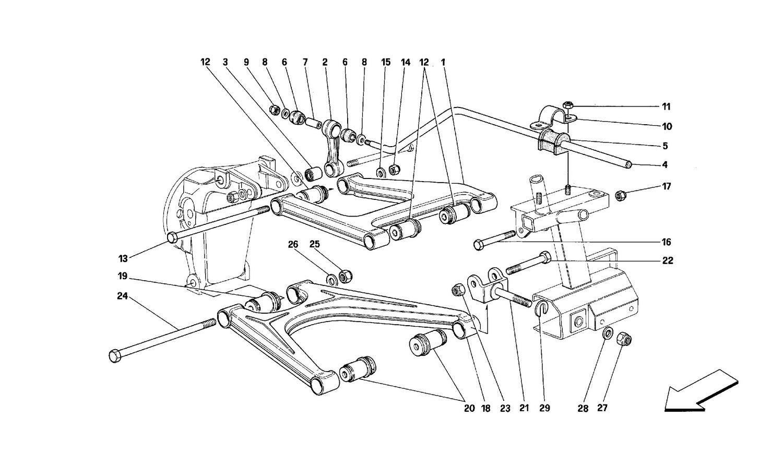 Rear suspension - Wishbones