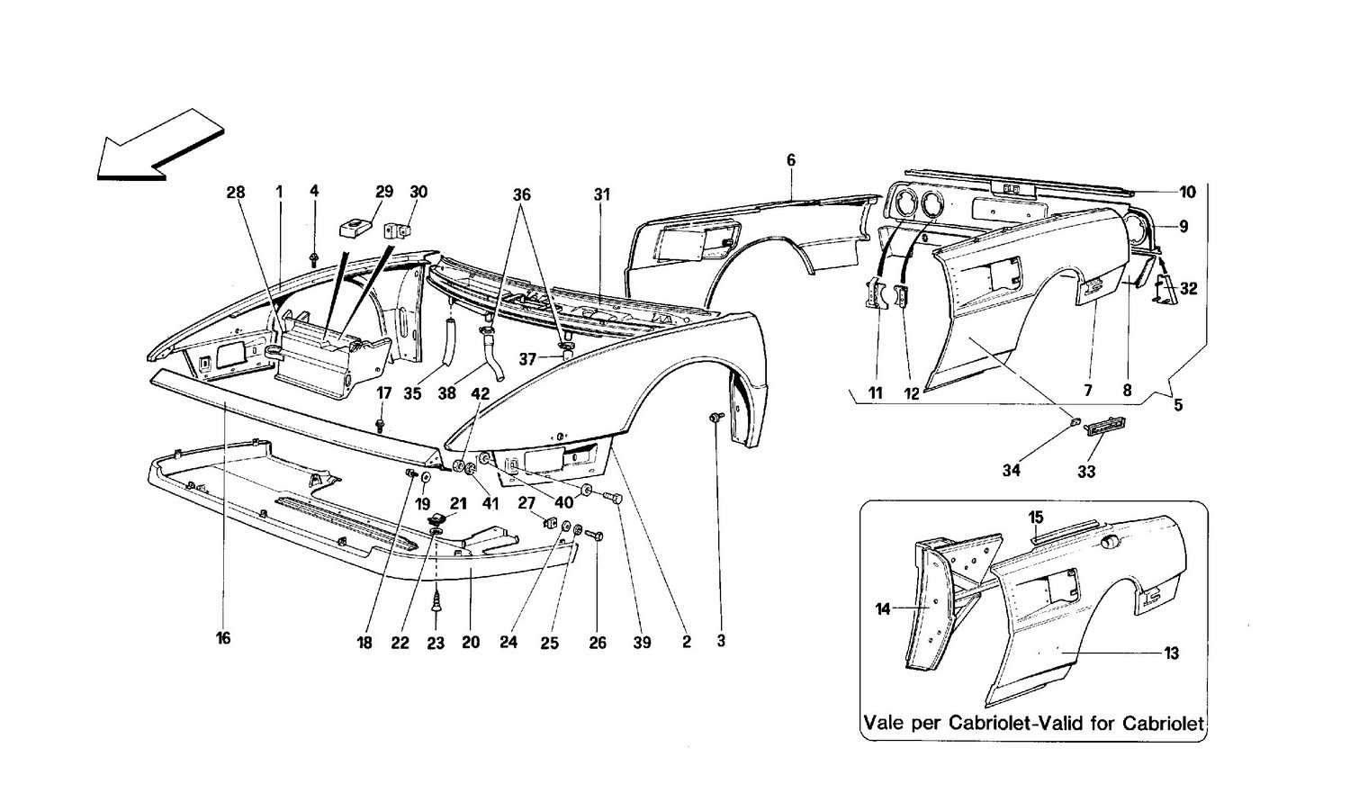 Body shell: outer elements - Front and Rear part
