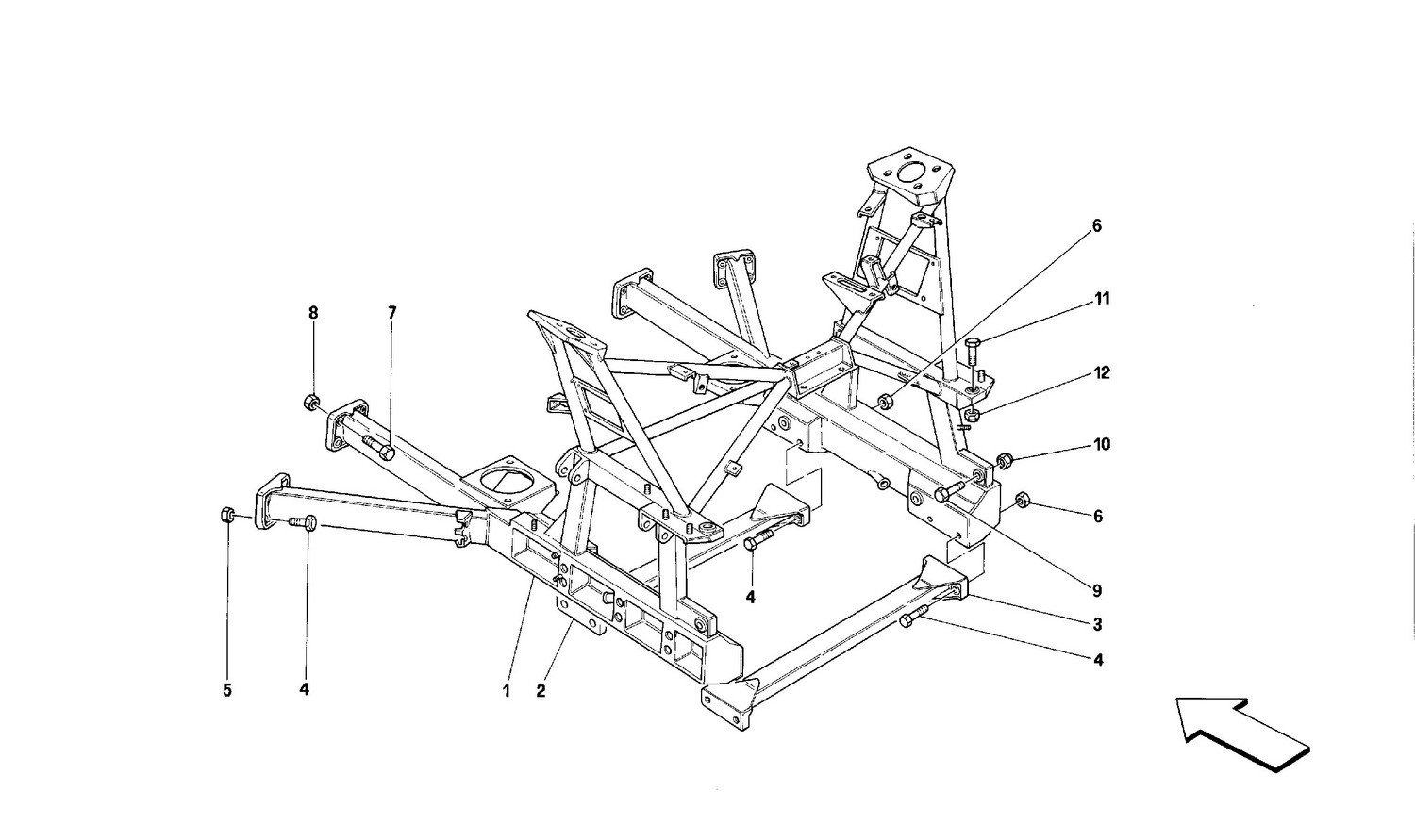 Rear removable frame -Valid for cars with 3P-