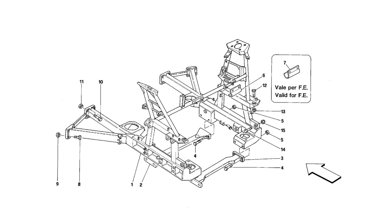 Rear removable frame -Valid for cars with 4P-