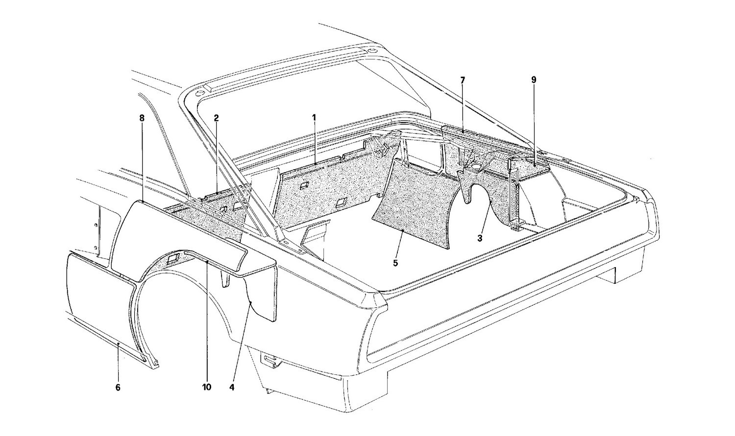 Engine compartment insulation - Coupé - For CH version cars