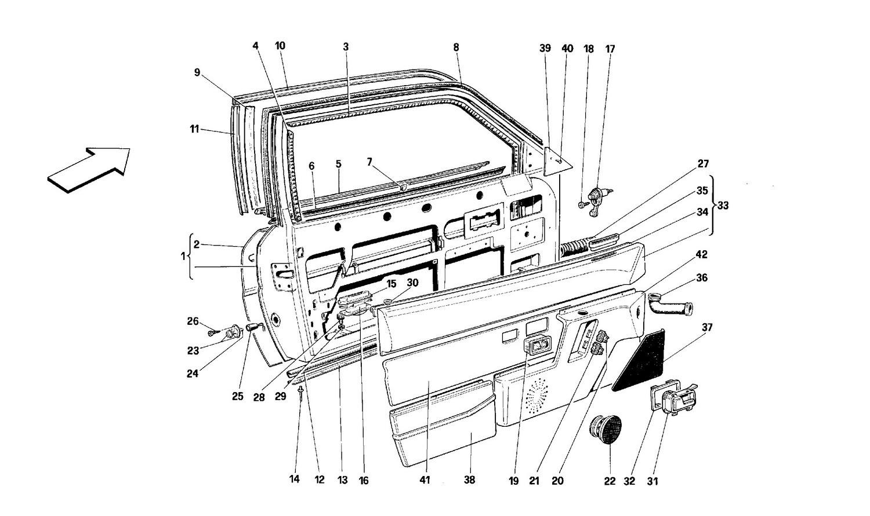 Doors - Coupé - Framework and linings