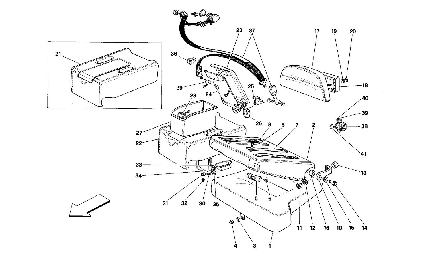 Seats and rear safety belts - Coupé -