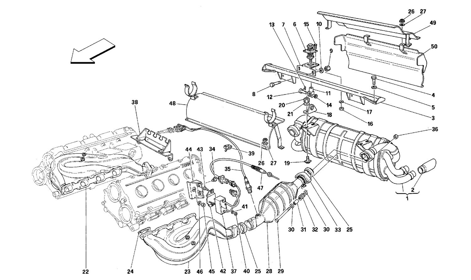 EXHAUST SYSTEM -Valid for USA AND CDN-