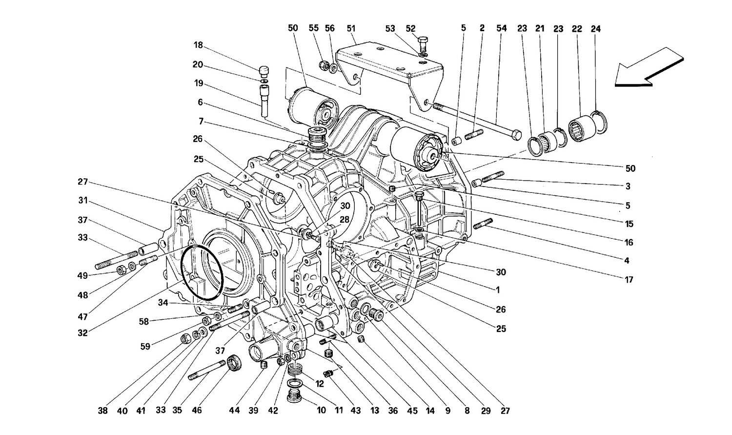 GEARBOX DIFFERENTIAL HOUSING AND INTERMEDIATE CASING