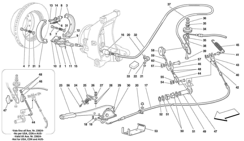 HAND-BRAKE CONTROL -Valid for 456 GTA-