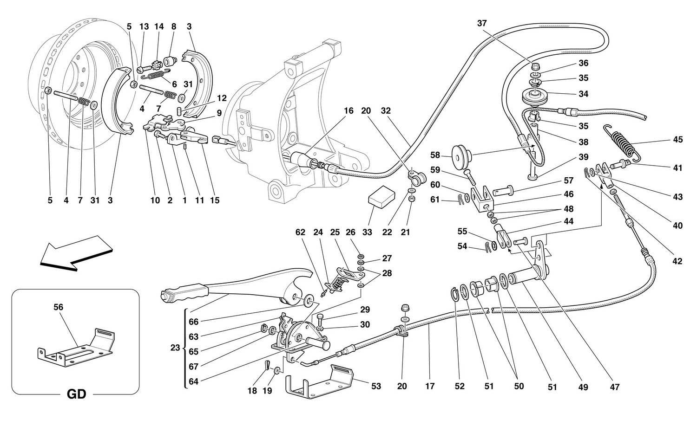 HAND-BRAKE CONTROL -Valid for 456M GTA-